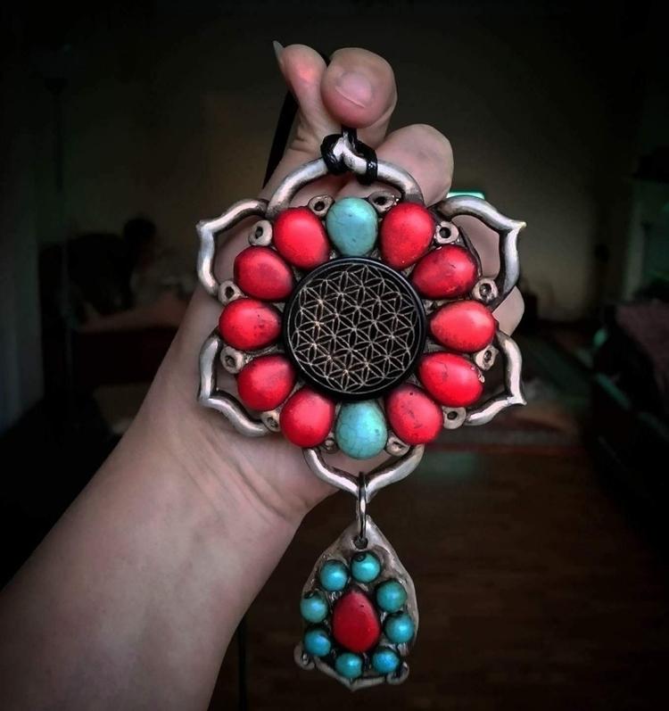 Sacred Mandala: Turquoise Howli - spiritualdragon | ello