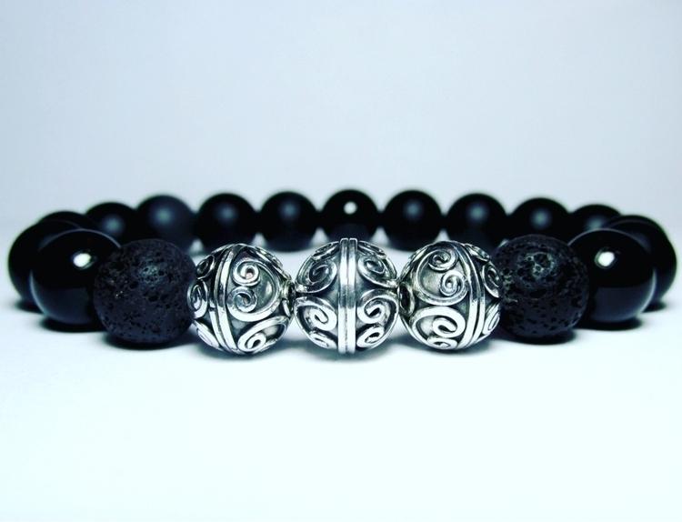 Sterling Silver Black Lava Onyx - lampjewellery | ello
