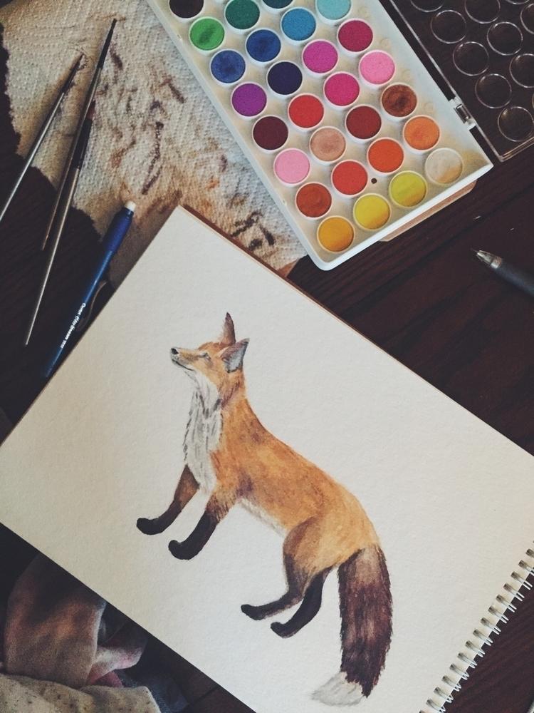 Foxy - watercolor, art, artist, artwork - wildflowerramblings | ello