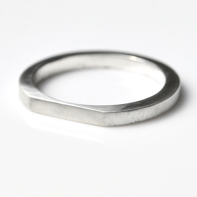 Flat Top Stacker Ring - roll dr - mineralrare | ello