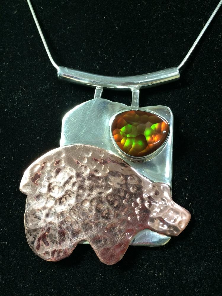 Fire Bear - Copper Medicine Aga - desertnightsstudio | ello