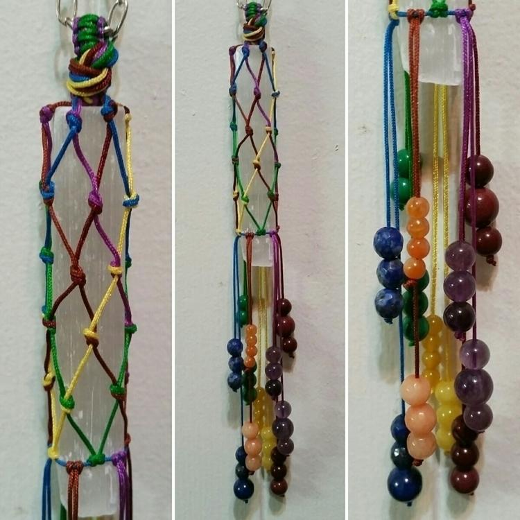 Macrame Selenite crystal dangle - elevatingvibrations | ello