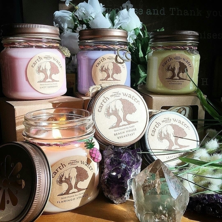 soycandles, relax, crystalvibes - earthmeetswater   ello