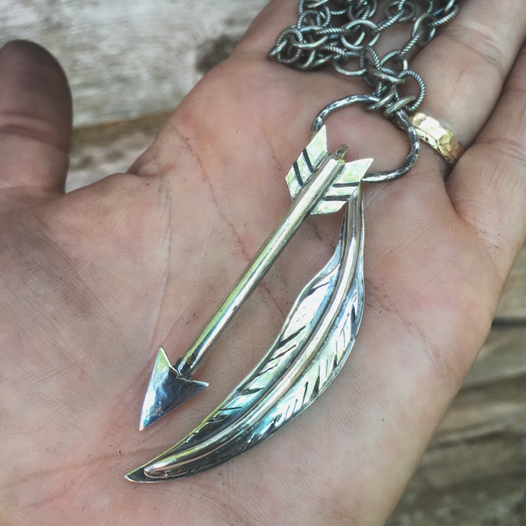 custom Sterling silver arrow fe - lunaseestudios | ello