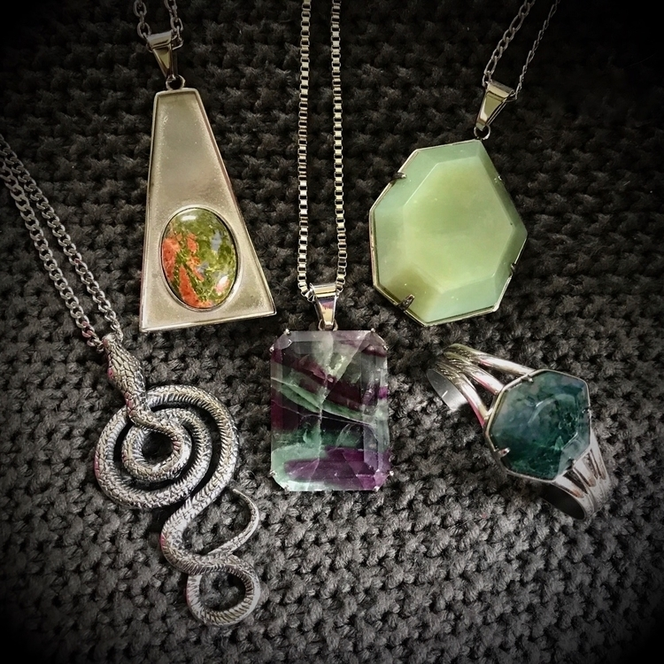 Dying greens 20% weekend promo  - evil_pawn_jewelry   ello