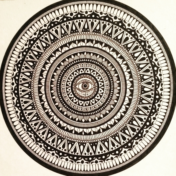 Mandeyela - art, mandala, illustration - vesicadesigns | ello