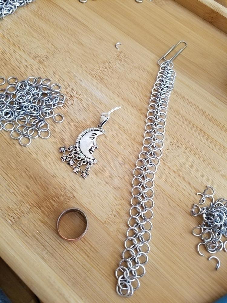 progress brand necklace set wor - cerridwenchainmail | ello