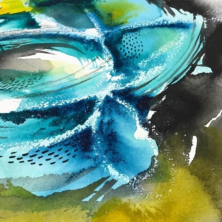 Abstract watercolor exploration - drawriot | ello