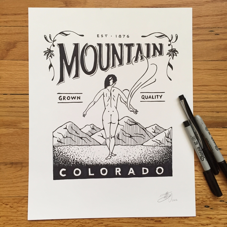 Mountain Grown Quality - drawing - jeffwalters | ello