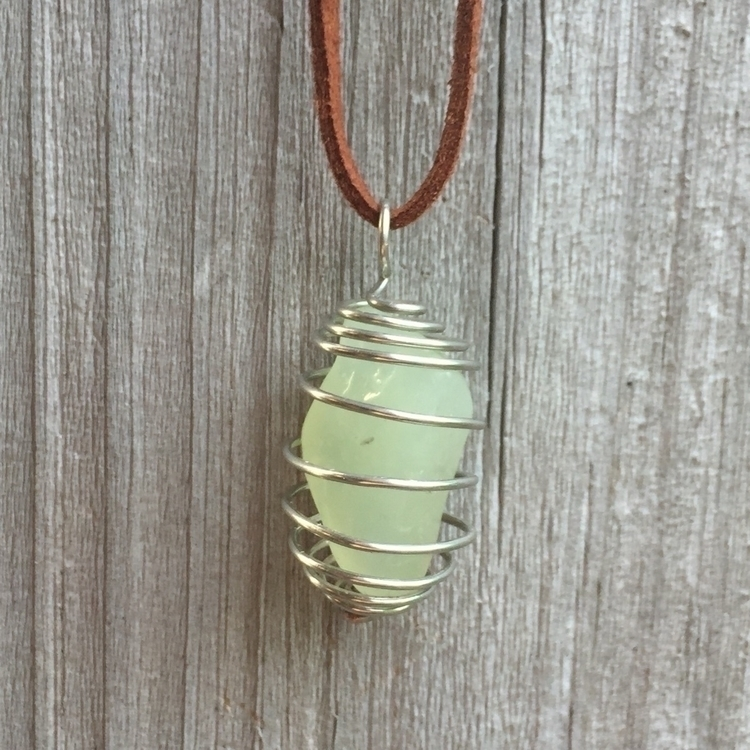 SOLD Prehnite Crystal Cage Neck - a_touch_of_alice | ello