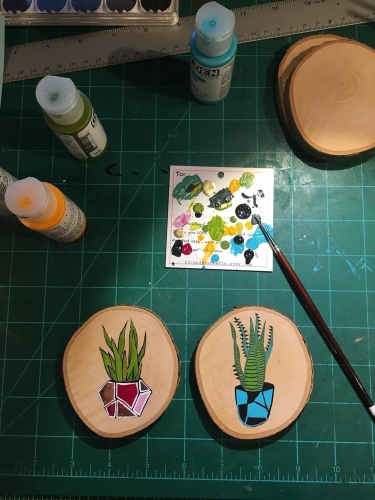 working tiny cacti - nicandthenewfie | ello