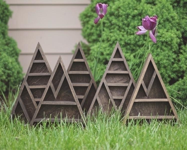 mountain range shelves - woodcraft - formandfinish | ello