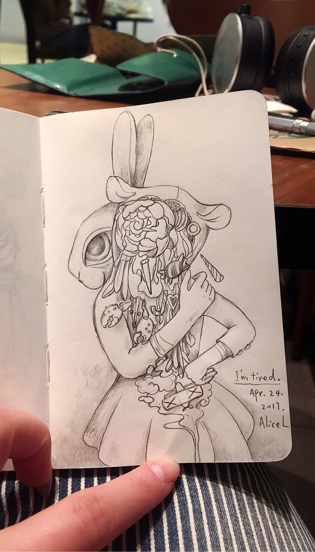 Sketchbook, doodle, moleskine - alice_lin | ello