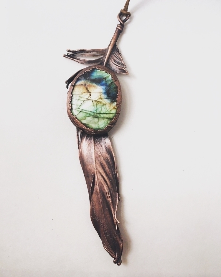Electroformed feather labradori - amykaeatelier | ello