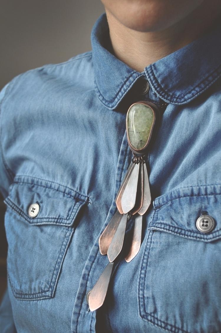 bolo tie. Unique copper necklac - twistedjewelry | ello