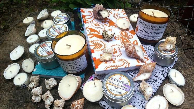 kinds handmade soy candles blan - goldenflamestudio | ello