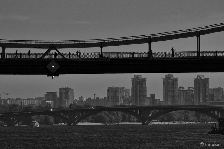 Silhouettes Bridge | Flickr - river - t-maker | ello