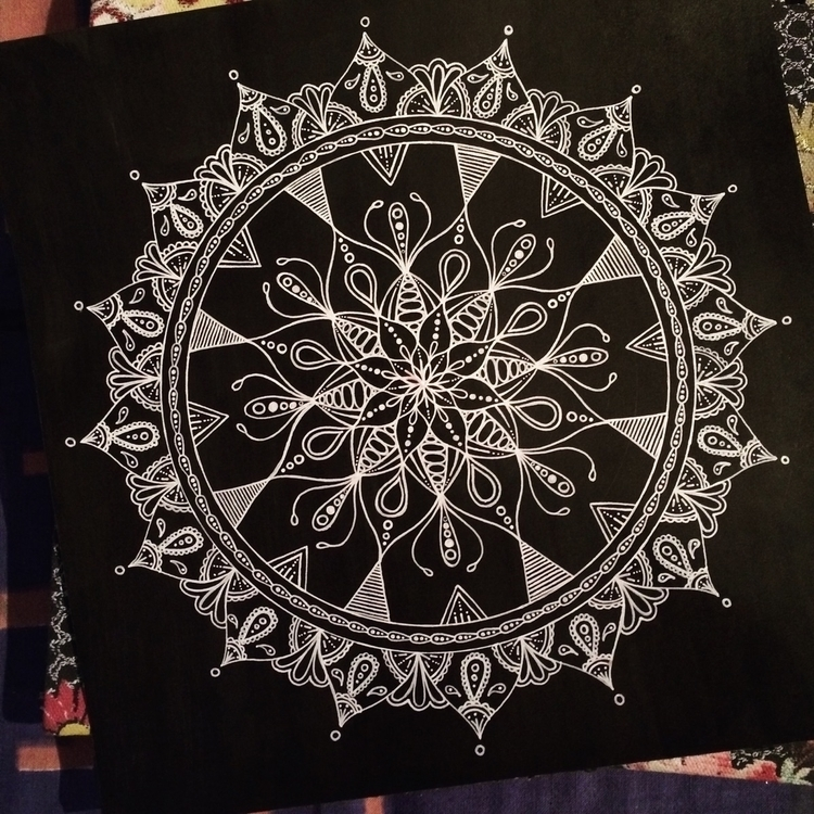 White Black 🖤 - mandala, art, drawing - vesicadesigns | ello