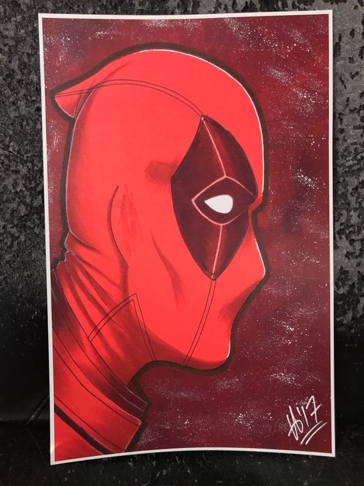 Deadpool print sale. 11x17, $20 - cajuncajoleart | ello