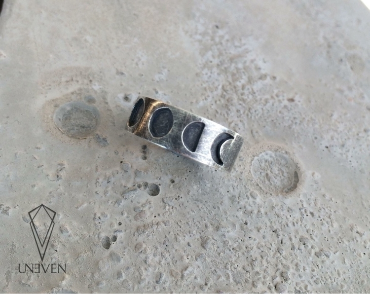 Moonphases ring sterling silver - unevencreations | ello