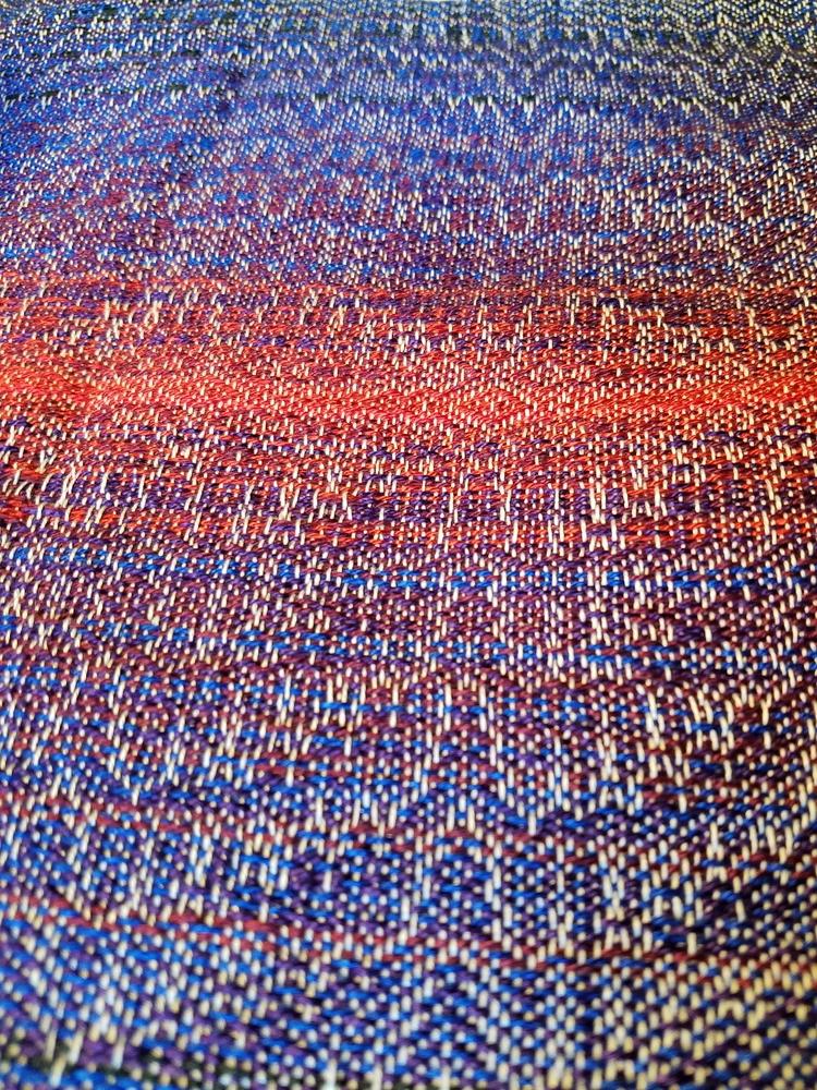 Handwoven scarf, Cotton Tencel - annabweaving   ello