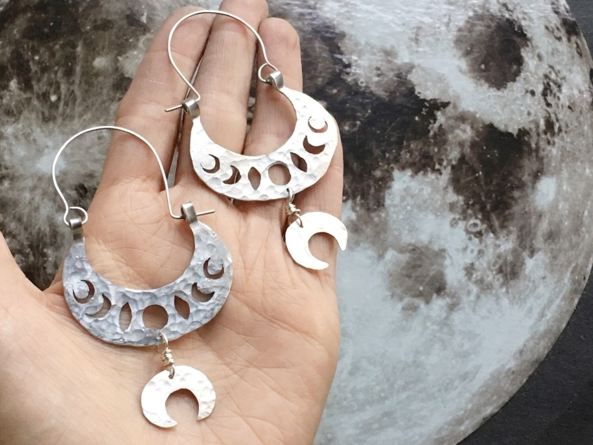 constantly cutting hoops! moon  - asotojewelry | ello