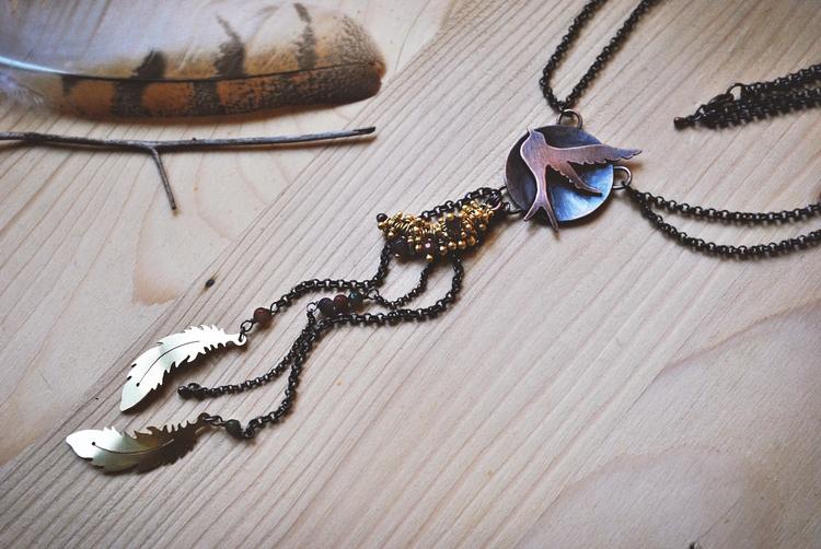 fly copper / brass candy jade - jewelry - twistedjewelry | ello