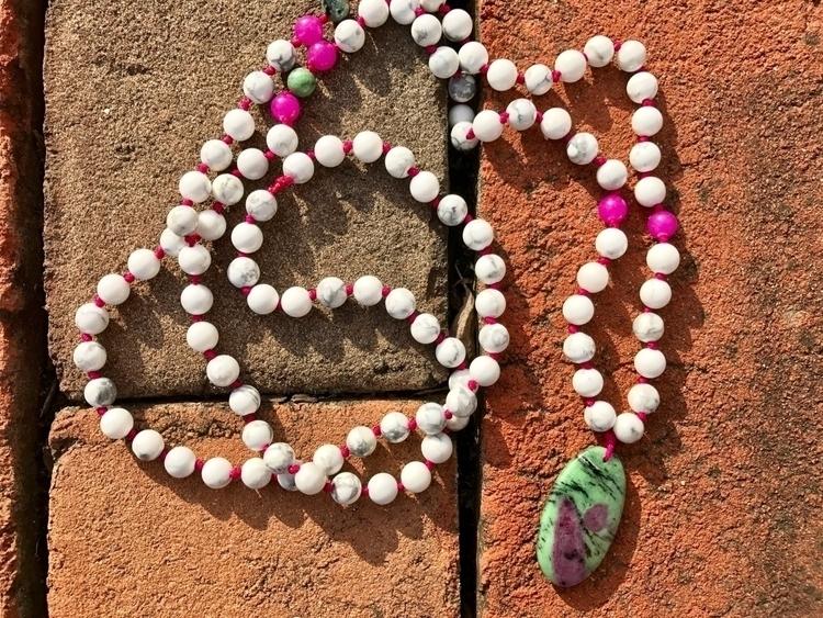 Ruby Zoisite Mala pink heart :h - findyourshakti | ello