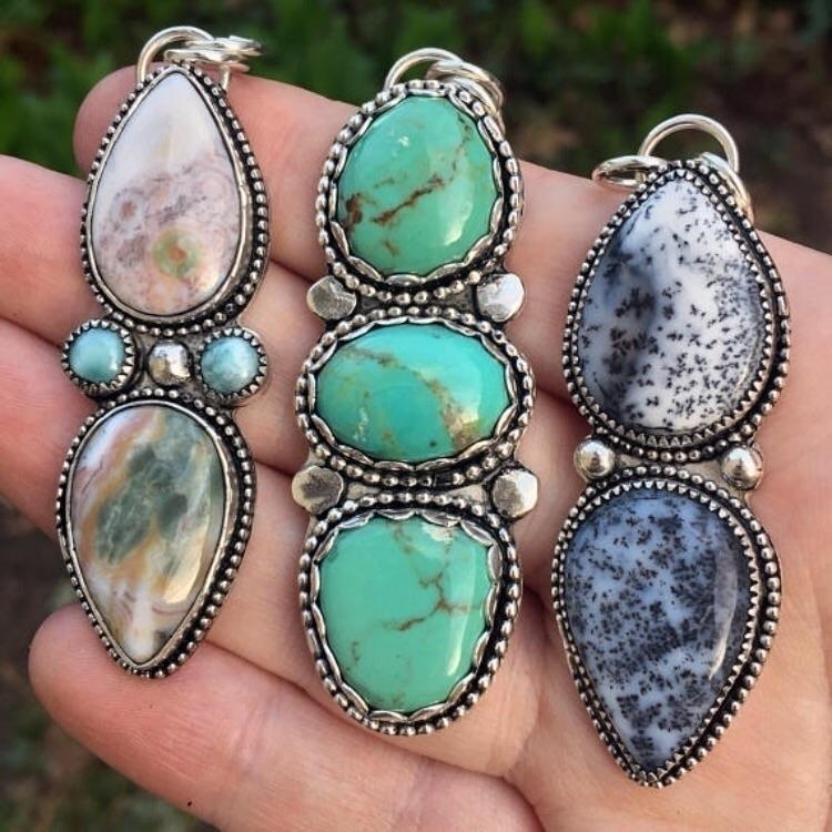 3 multi stone pendants shop! le - simplybold | ello