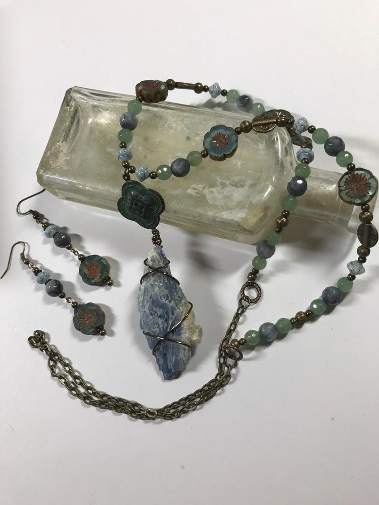 Lovely blue kyanite necklace co - wisecatdesigns | ello
