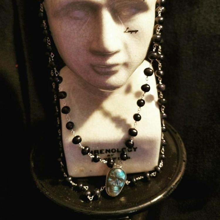 double strand black baroque pea - lolafaejewelry   ello