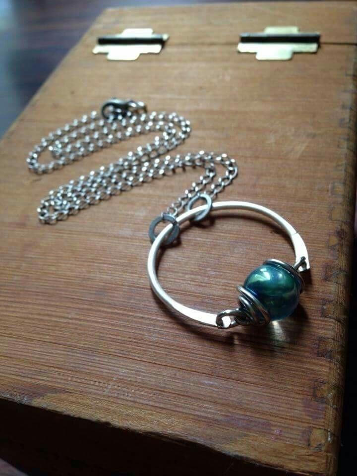 Aqua Aura Sphere Necklace - whimsical_stone | ello