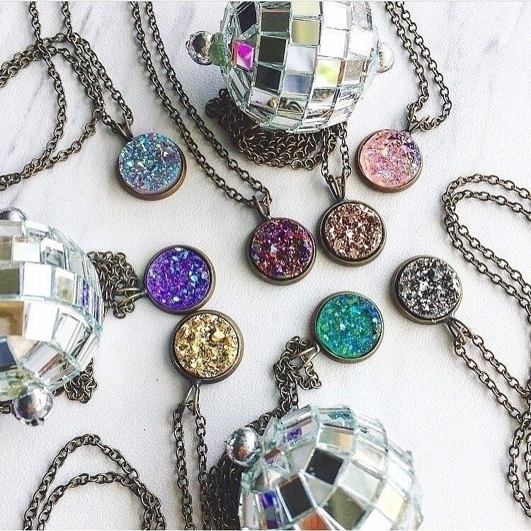 druzy party charm necklaces $13 - rockswithsass | ello