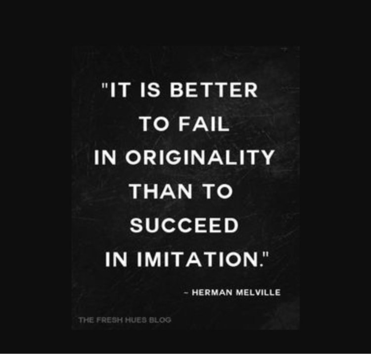 Great quote - beoriginal, findyourownvoice - ellooriginalartists | ello