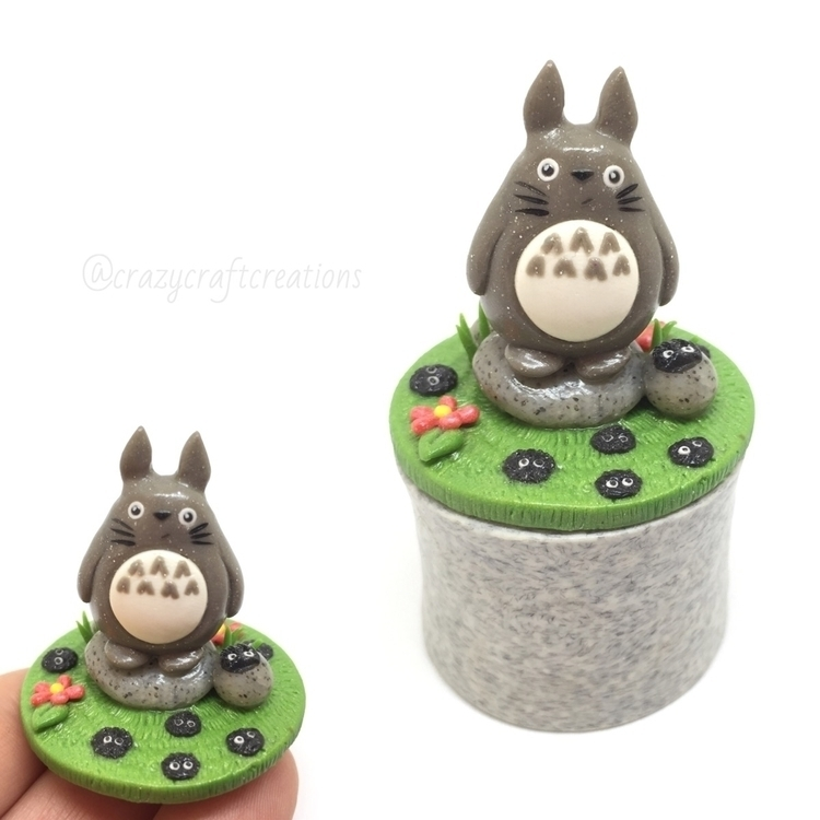 Totoro trinket box - polymerclay - crazycraftcreations | ello