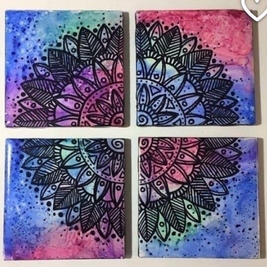 Mandala coasters! kind shop - mandala - maggiessundries | ello
