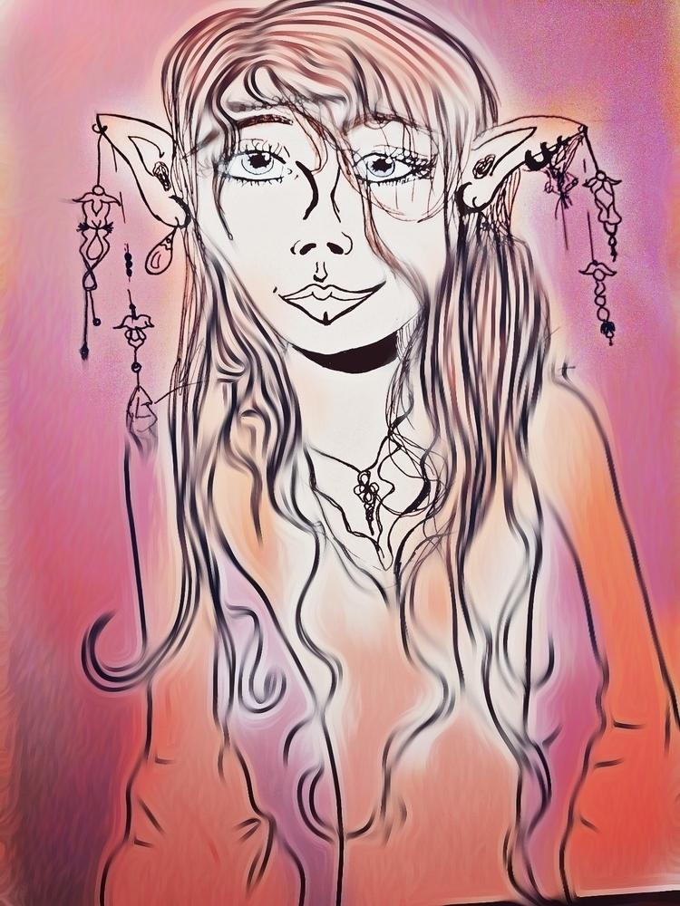 hippy elf edit - drawing - katroselamb | ello