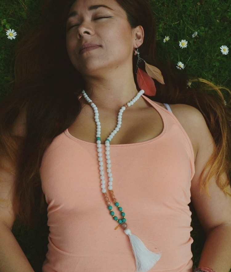 Bohemian Summer Mala white jade - heartwingmalas | ello