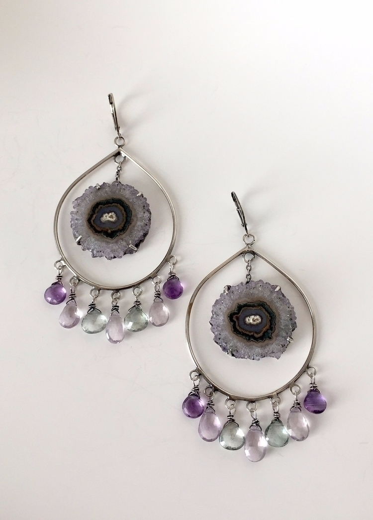 Stalactite Dreamcatcher Earring - violetvengeance | ello