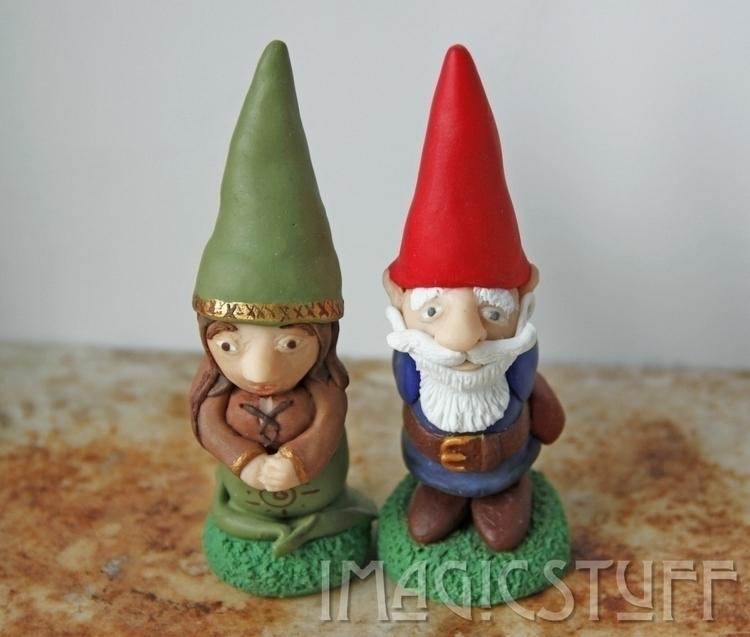 Set 2 gnomes. love.:heartbeat - gnome - i_magicstuff | ello