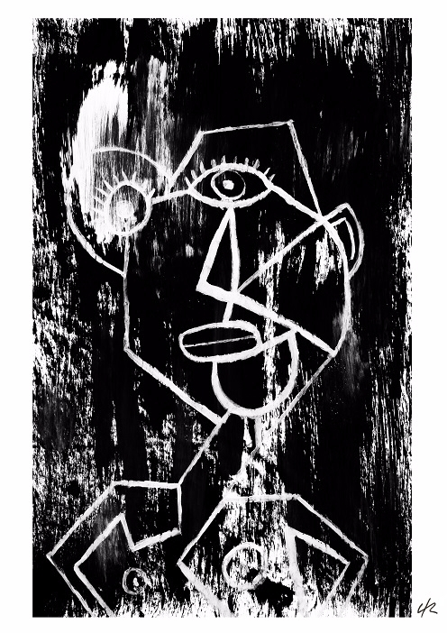 man A4 print - cubism, art, bw, blackandwhite - clramalhao | ello