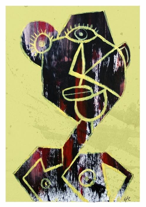 man colour), A4 print - cubism, art - clramalhao | ello