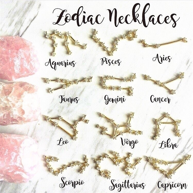 zodiac necklaces GOLD SILVER pe - rockswithsass | ello