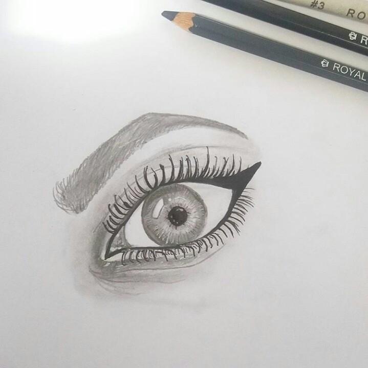eye drawing - art, youngartist, arty - artbyhan13 | ello