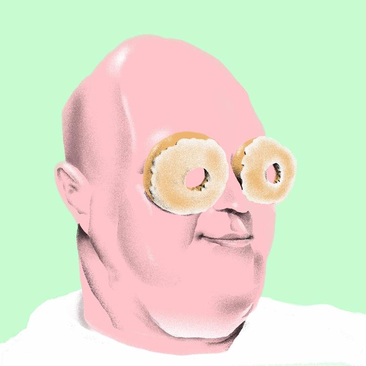 Eyes Glazed - illustration, illustrator - richchane | ello