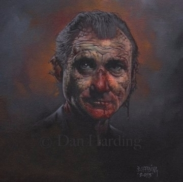 Zombie Murray 12x12 oil canvas - danharding | ello