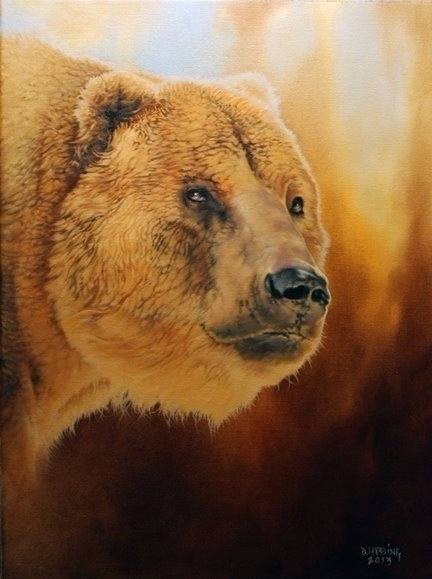 Grizzly 11x14 oils canvas - art - danharding | ello