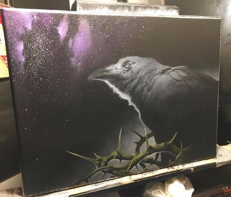 Omega 9x12 oil canvas - darkart - danharding | ello