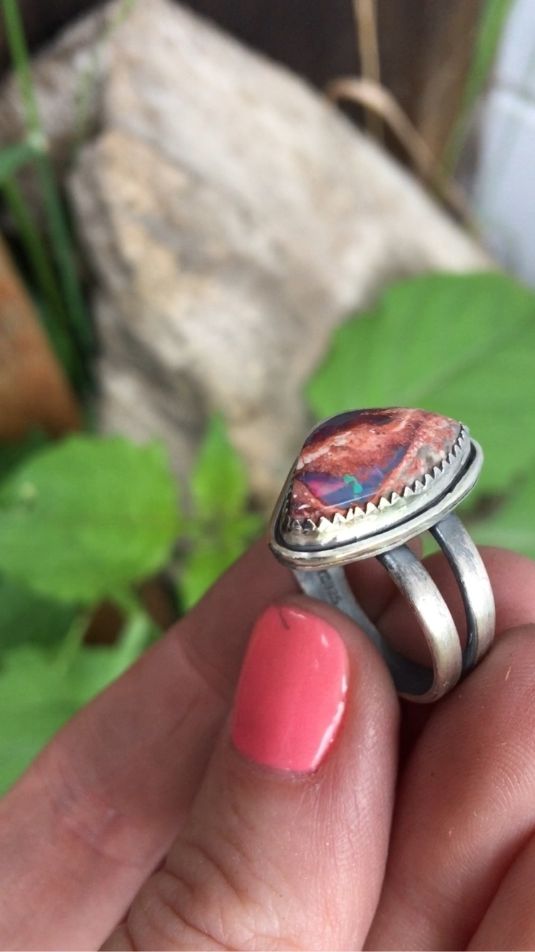flashy colors Mexican Fire Opal - moonshinedivine | ello
