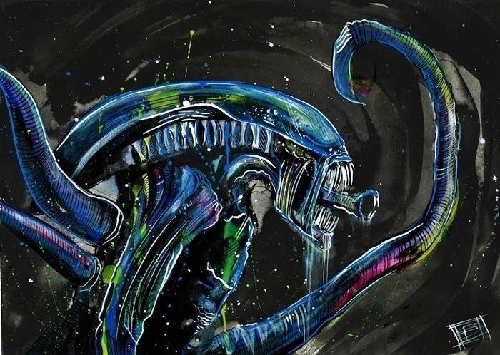 prints - alien, xenomorph - iamryancase | ello